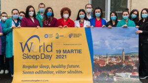 """Medicii pneumologi din Spitalul Clinic de Pneumologie """"Leon DANIELLO"""" Cluj-Napoca de Ziua SOMNULUI 19 martie 2021 in pandemia COVID!"""